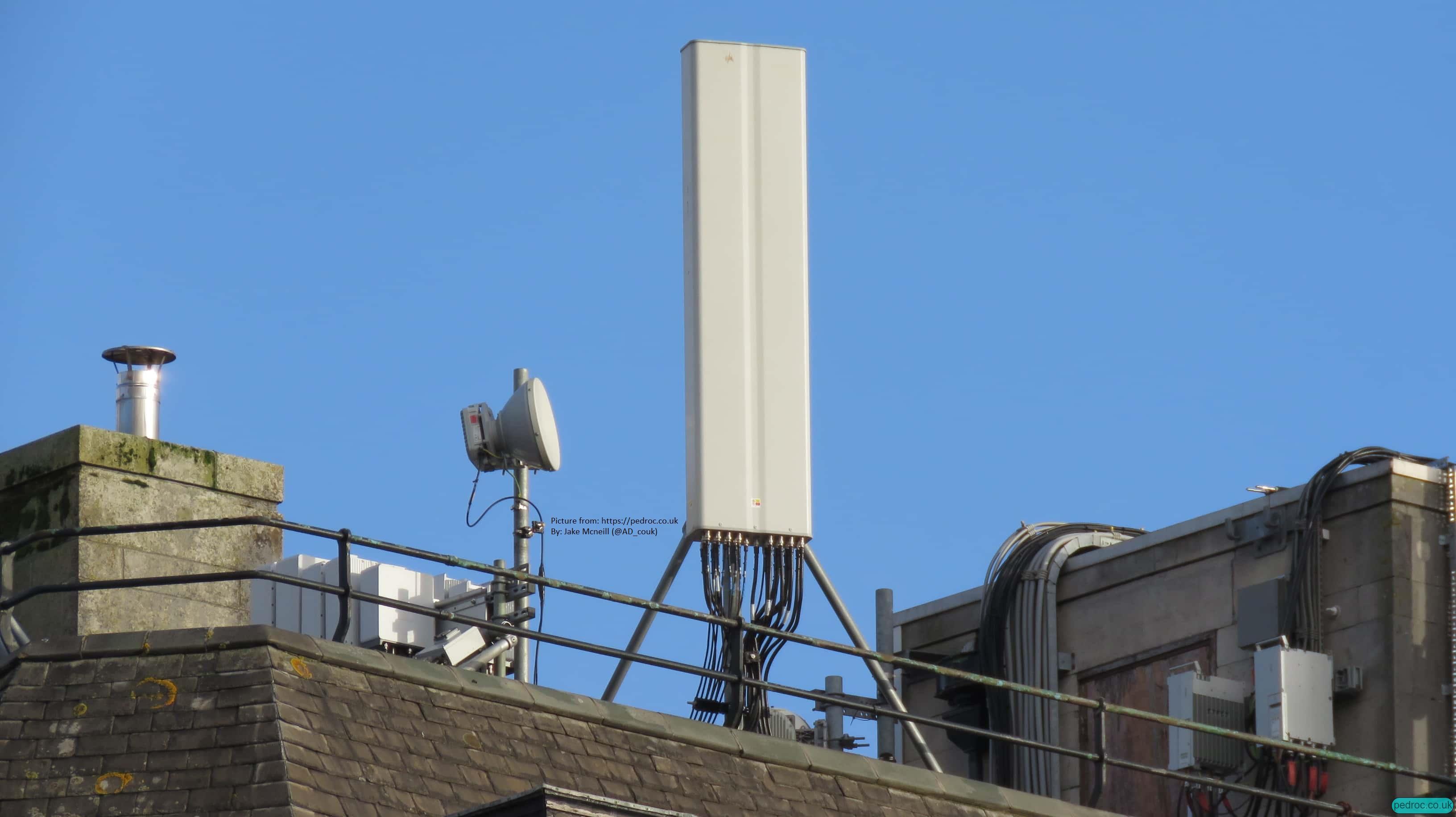 O2 Ericsson 8T8R 5G with Commscope antennas