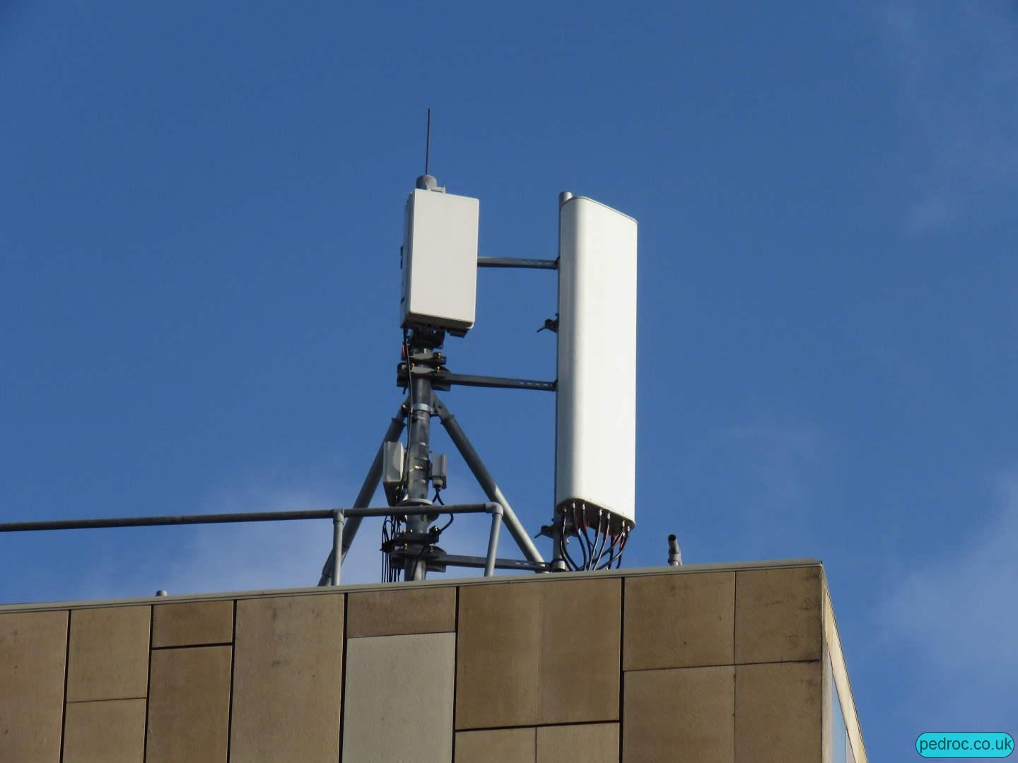 Vodafone's Huawei passive panel and AAU on Holiday Inn, Cardiff