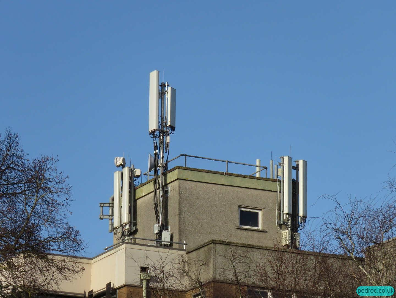 Tudor House all operator mast, Cardiff