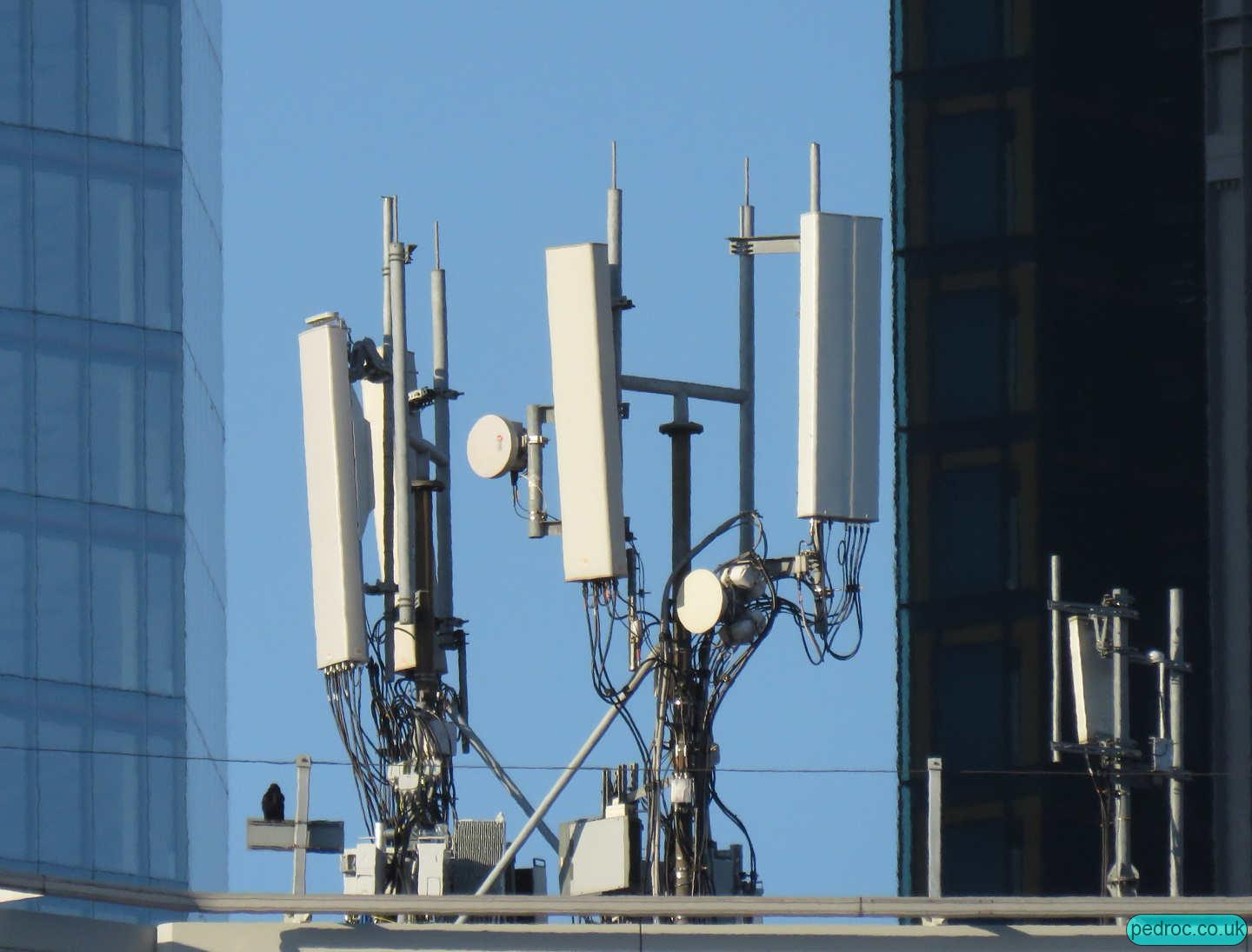 Cannon Street O2 Huawei and Vodafone array.
