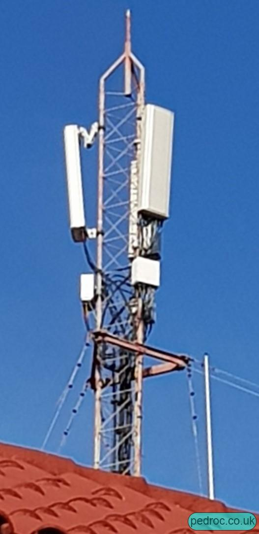 Cubacel mast with Ericsson ERS radios and Kathrein 80010864 antennas.