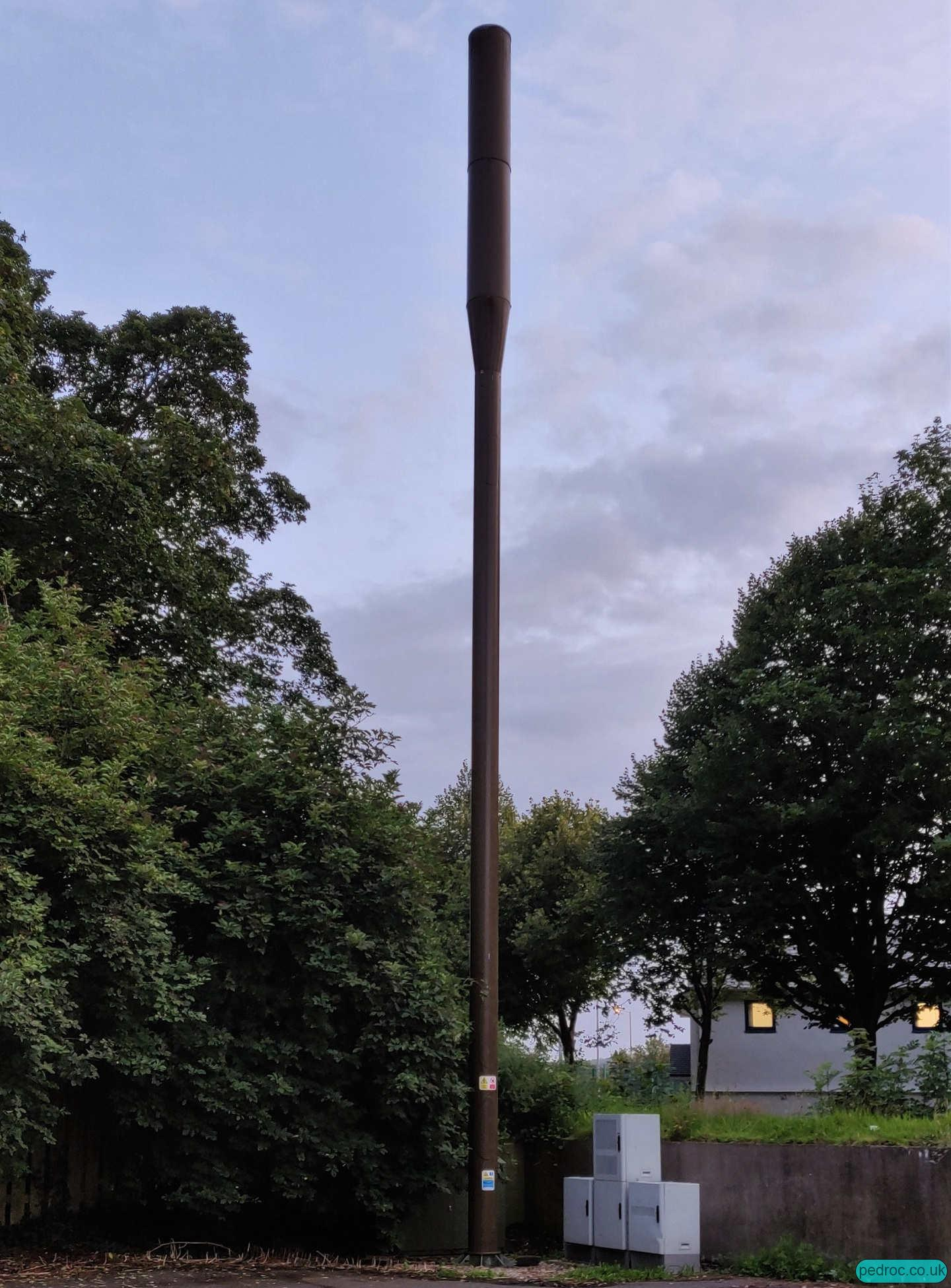 Manx Telecom Pole at Peel road car park
