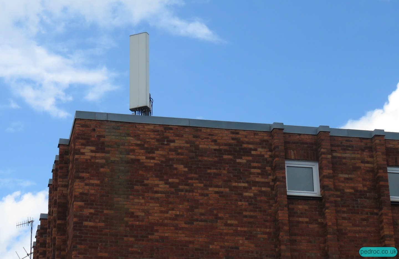 Vodafone/O2 Mast on Cromer Albany Court.