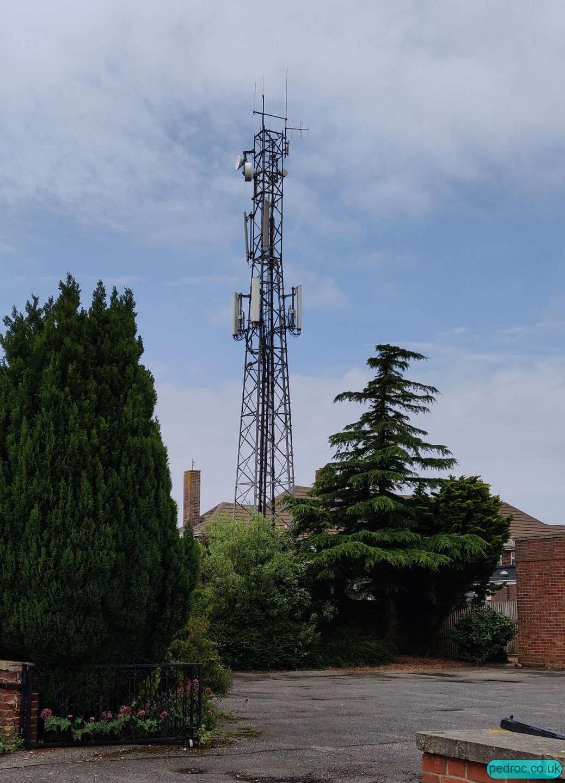 Hunstanton Police Station Mast hosting EE/3 and Vodafone