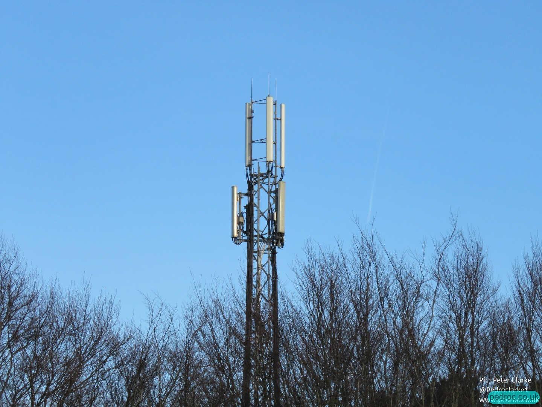 Closeup of the mast at Weybourne.