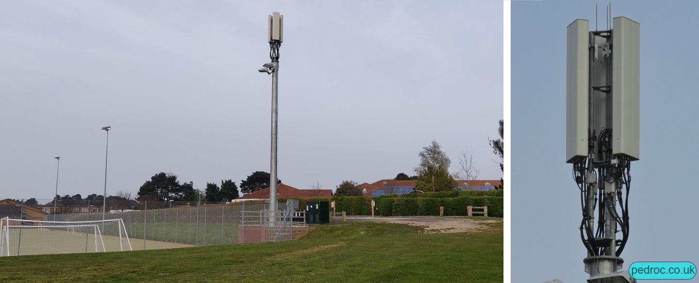 Sheringham High School VF/O2 Mast