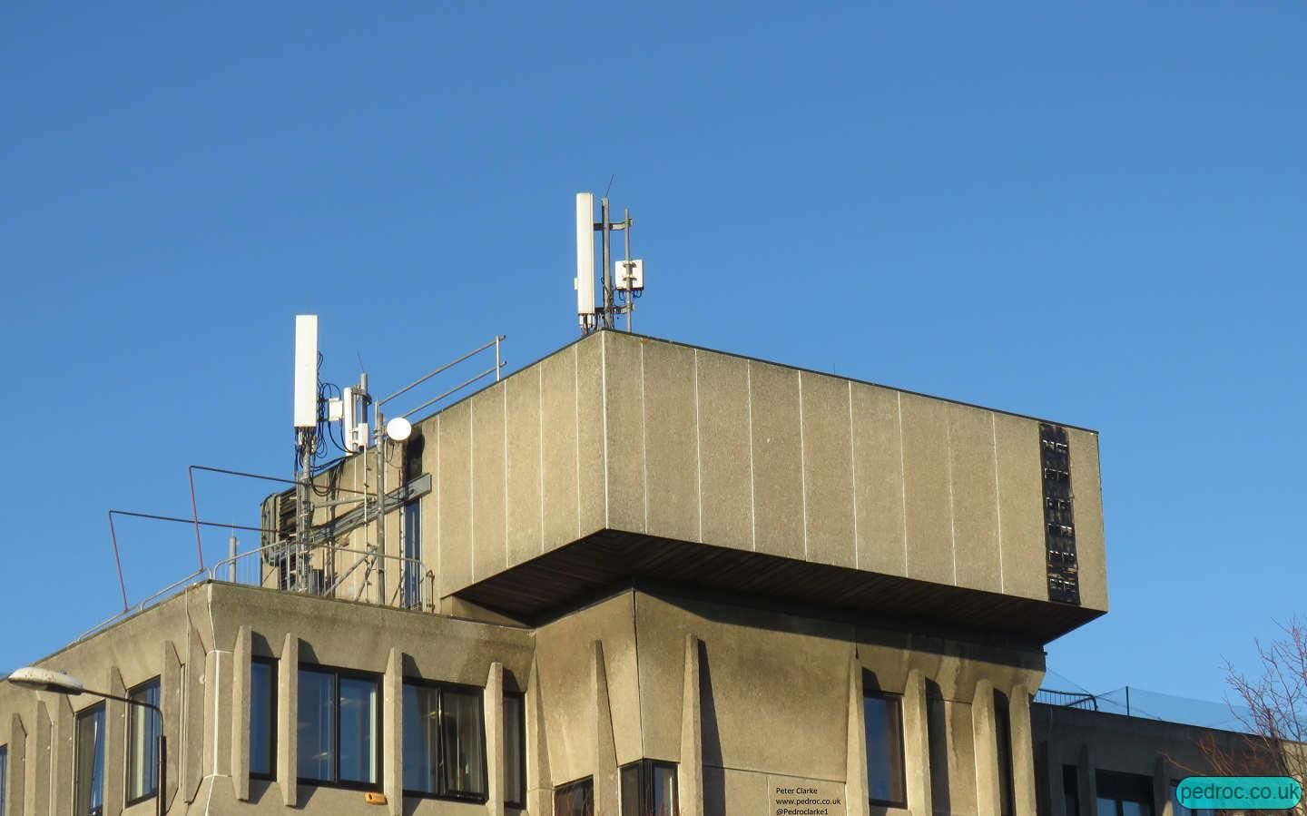 Pavilion House, centre of Scarborough Site with all mobile networks on the rooftop.