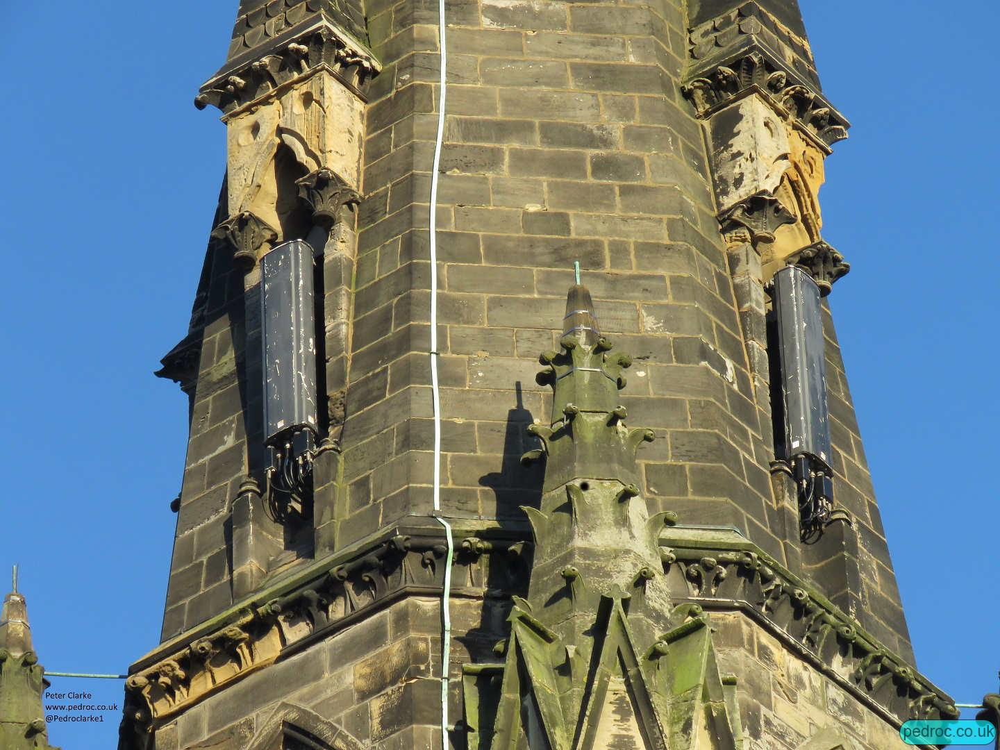 Scarborough St Andrew's United Reformed Church with hidden Kathrein antennas for O2/Vodafone.