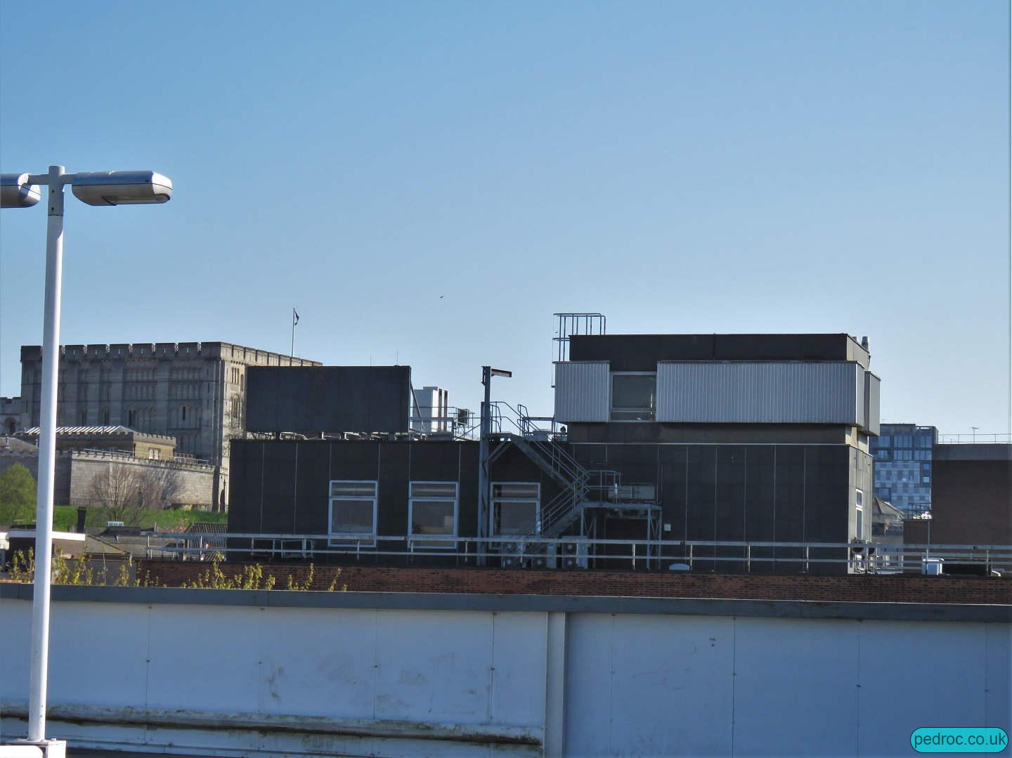 General view of the BT Exchange roof.