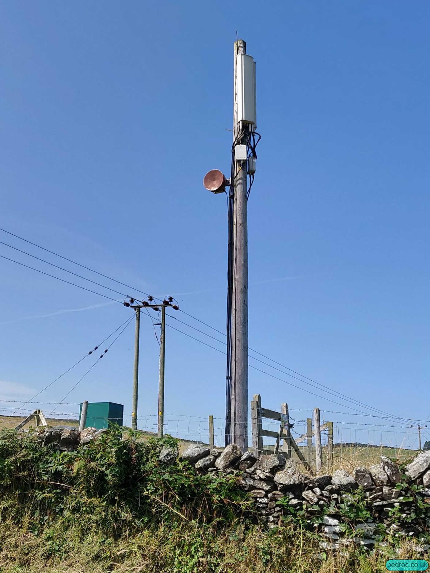 Sure's mast near Crosby.