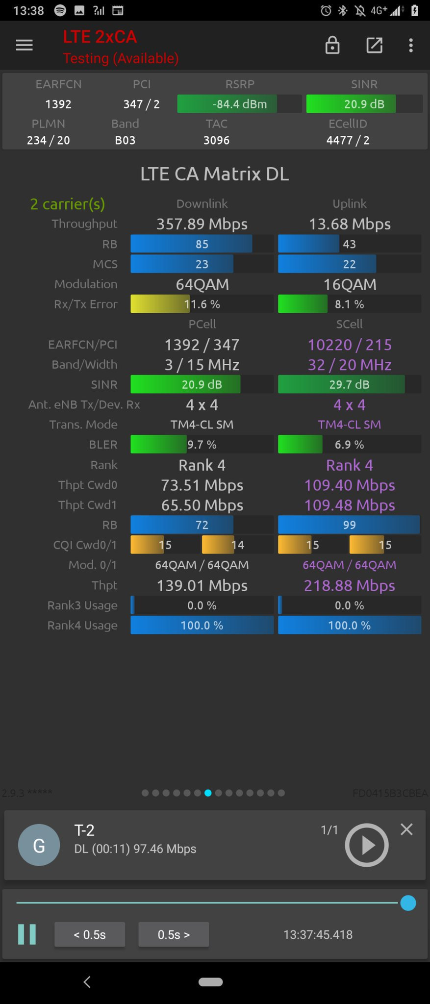 Three UK Huawei 4T4R field test performance