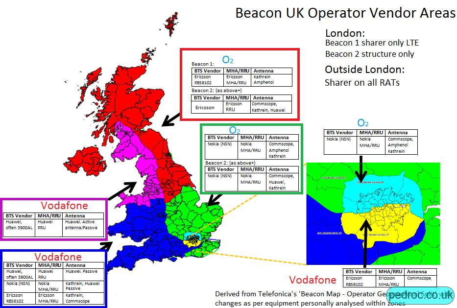Map of the Beacon areas.
