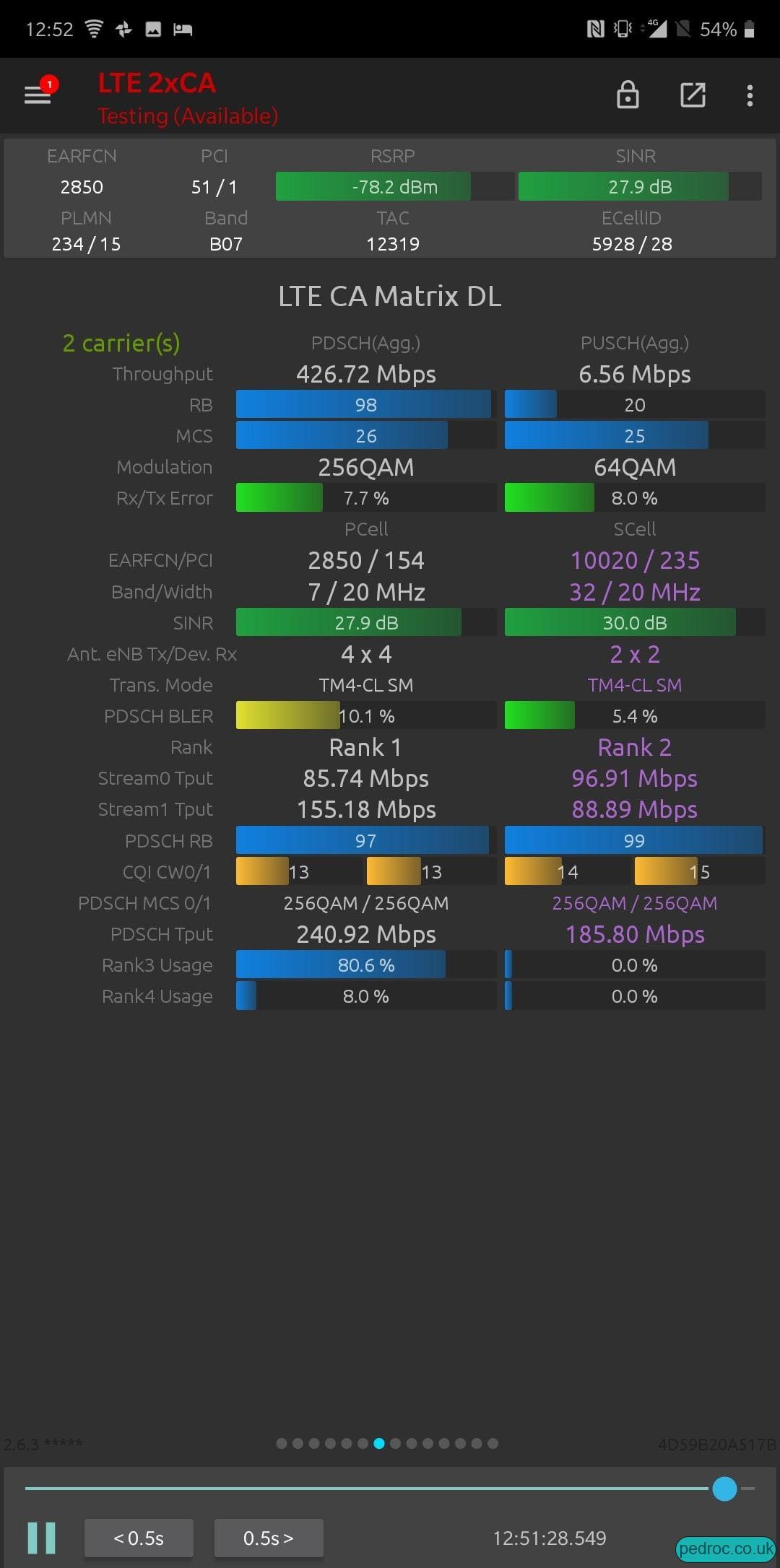 426Mbps on L26+L14 in NSG